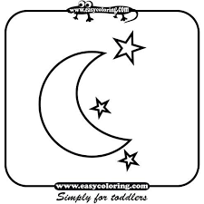 Small Picture Moon and star coloring pages