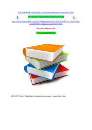Esl 504 Week 2 Individual Assignment Language Acquisition