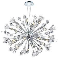 starburst 36 wide 24 light contemporary round large chandelier chrome