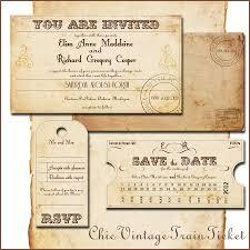 Wedding Invitation Train Tickets By Abandig On