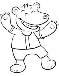Disegno Di Orso Cartone Animato Da Colorare Disegni Da Colorare E