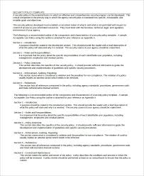 business policy example security policy sample 8 examples in word pdf