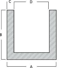 Aluminum U Channel Size Chart Small Aluminum U Channel Supertheory Co