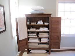 wood linen closet ideas