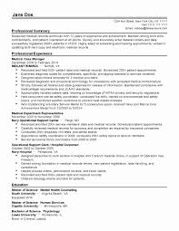 Professional Medical Resume Template Perfect Resume Template Inspirational Professional Medical Records 17