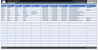 Contact List Spreadsheet Template Contact List Template In Excel Ready To Print Professional Spreadsheet Excel Template