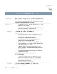Rn Charge Nurse Resume Unique Samples Tips And Templates Of