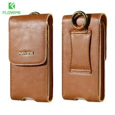 floveme 5 5 universal leather case for iphone 8 plus phone case for iphone 6 6s 7 plus case clip belt genuine leather punch