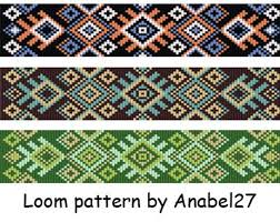 Bead Weaving Patterns Magnificent Beading Pattern 48 Bead Loom Patterns Loom Beading Bead Etsy