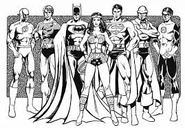 Small Picture Justice League of America Coloring Page NetArt