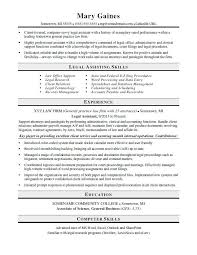 Hr Resume Objective Statements Amazing Legal Assistant Resume Sample Monster