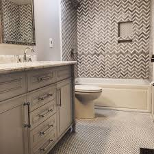Penny Tile Kitchen Floor Chevron Shower Tile Double Vanity Penny Tile Floor Yelp
