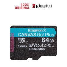 Thẻ nhớ Kingston Canvas Go Plus MicroSD 64GB cho thiết bị di động Android,  camera, flycam và sản xuất video 4K SDCG3/64G - Thẻ nhớ và bộ nhớ mở rộng