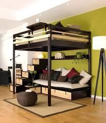 loft bed frame svarta twin with desktop