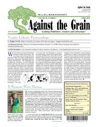 Against The Grain V 30 2 April 2018 By Against The Grain