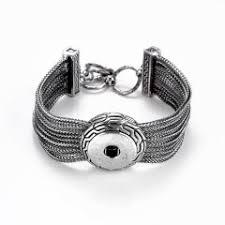 1 snap multi chain bracelet chunk snap on interchangeable jewelry