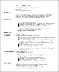 Vet Tech Resume Samples 13 Veterinary Technician 6 Free Creative