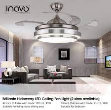 ceiling fans with lights for living room. INOVO® Brilliante Hideaway Is An Advanced Ceiling Fan With Unique Aesthetics And Energy Efficient Design. Switched Off, The Traditionally Intrusive Fans Lights For Living Room