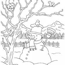 Small Picture Snowman Winter Coloring Pages For Kids Winter Coloring pages of