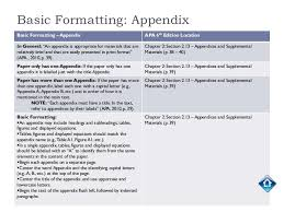 Apa 6 Sample Paper Appendix Q How Do I Do An Appendix In Apa Style