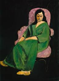 henri matisse essay heilbrunn timeline of art   laurette in a green robe black background