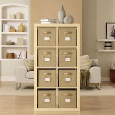 birch wood storage shelf ikea room divider with oak wood vinyl home flooring and cream beige interior wall paint and white fabric comfy sofa with chrome