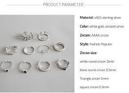 <b>2019 Hot Sale</b> 925 Sterling Silver <b>Personality</b> Mix Fashion Concise ...