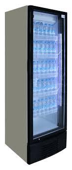 best frost 320 litre single door glass door drinks fridge led lights
