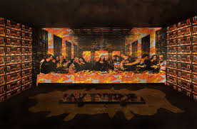 the last supper mural
