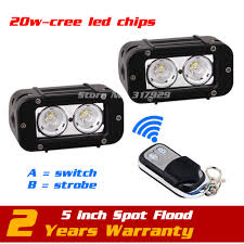 20w Cree Led Work Light Us 96 99 5inch 20w Led Work Light Bar Wireless Remote With Strobe Light Tractor Motorcycle Atv Led Offroad Fog Light Bar Save On27w In Car Light