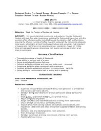 Describe Hostess On Resume Sample Job And Resume Template