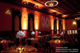 pin lighting wedding. wedding lighting gettysburg hotel monogram uplighting pin-spot pin t