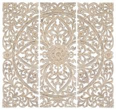 wood carved wall art set of 3 carved wood wall panels antique white floral home decor traditional wall accents on antique white wood wall art with wall art designs wood carved wall art set of 3 carved wood wall