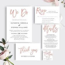 Wedding Invitation Templates Downloads Rose Gold Wedding Invitation Templates Printable Wedding
