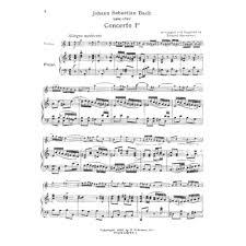 bach sheet music piano bach js violin concerto no 1 in a minor bwv 1041 violin and