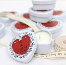 Personalised Scented Candle Wedding Favours By Hearth Heritage
