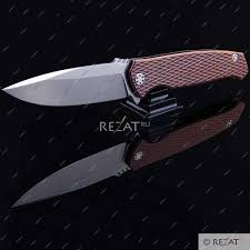 "<b>Складной нож</b> ""<b>Phantom</b>"" Flipper Satin Finish Elmax Steel Bronze ..."