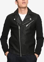 armani exchange men s faux leather moto jacket