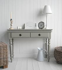 hall console table white. French Gray Bathroom Console | Grey Table From The White Cottage Living. Hall Furniture D