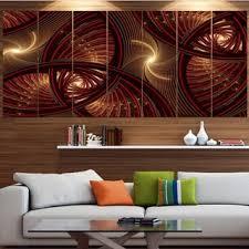 designart x27 brown symmetrical fractal pattern x27 floral canvas wall artwork on brown wall art canvas with shop designart brown symmetrical fractal pattern floral canvas