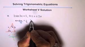trigonometric equations worksheet 5 solution q1 1