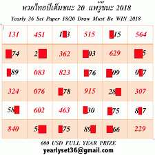 Thai Lottery Yearly Book 36 Set Tips 2019 Vip Thai Lottery