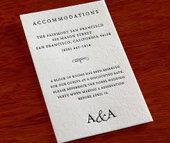 Hotel Accommodations Cards How To Word Your Accommodation Cards Letterpress Wedding