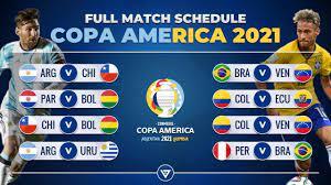 MATCH SCHEDULE: COPA AMERICA 2021
