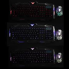 Led Light Keyboard 104keys Usb Led Light Gaming Keyboard And Optical Mouse Set Kit For Computer Pc Gamer