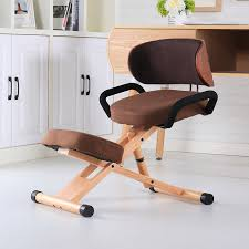 ergonomic kneeling office chairs. Fine Kneeling Modern Ergonomic Kneeling Chair With Back And Handle Office Furniture  Height Adjustable Wood For Chairs C
