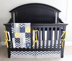 nautical crib bedding yellow navy
