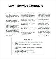 landscape maintenance proposal template maintenance proposal template sample lawn service contract template