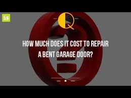 how much to replace garage doorHow Much Does It Cost To Repair A Bent Garage Door  YouTube