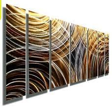 contemporary metal wall art copper grey